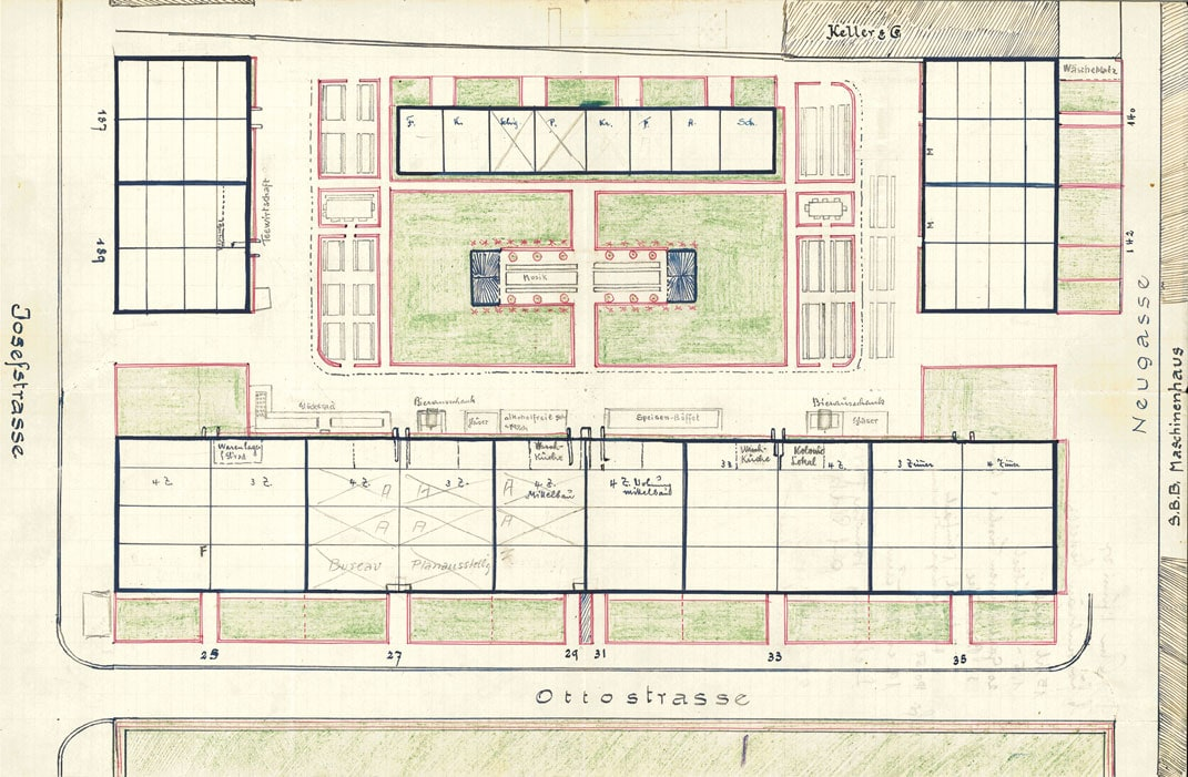 Plan for Festivities in the Siedlung Ottostrasse, ABZ, 1927