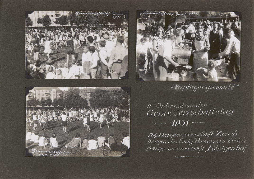 Album Page of the ABZ's celebrations on the occasion of World Cooperative Day, 1931